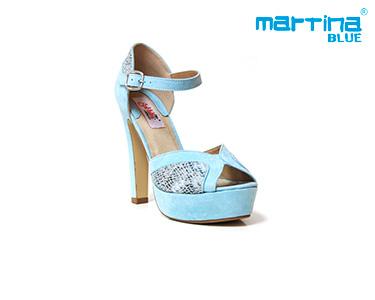 Sandálias de Salto Alto Martina Blue®   Azul Celeste