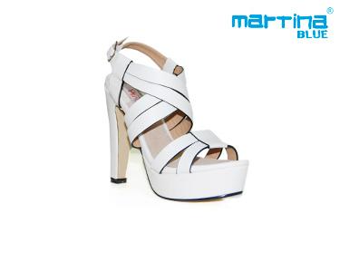 Sandálias de Salto e Tiras Alto Martina Blue®   Branco