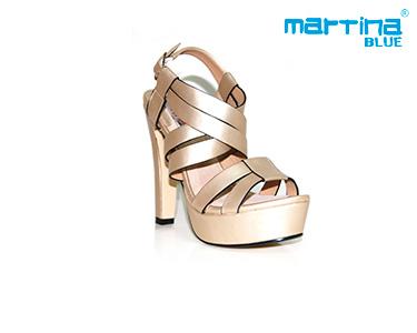 Sandálias de Salto Alto Martina Blue® | Dourado