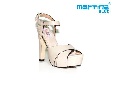 Sandálias de Salto e Tiras Alto Martina Blue® | Bege
