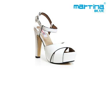 Sandálias de Salto Alto e Tiras Martina Blue® | Branco