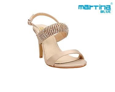Sandálias de Salto c/ Brilhantes Martina Blue® | Dourado