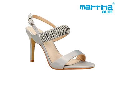 Sandálias de Salto c/ Brilhantes Martina Blue® | Prata