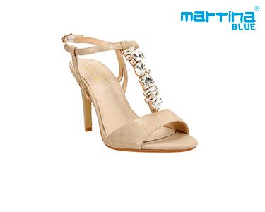 Sandálias de Salto c/ Brilhantes Martina Blue® | Ouro