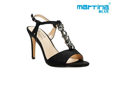 Sandálias de Salto c/ Pedras Martina Blue® | Preto