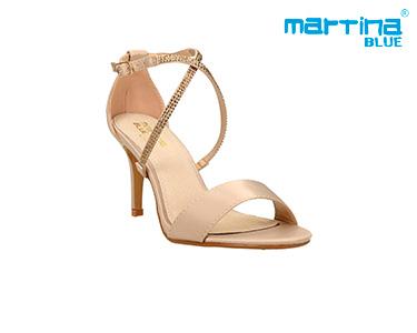 Sandálias de Salto c/ Pedras Martina Blue® | Dourado