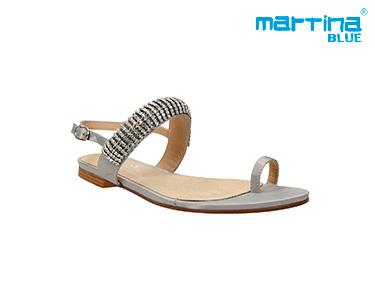 Sandálias c/ Brilhantes Martina Blue® | Prata