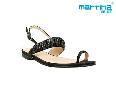 Sandálias c/ Brilhantes Martina Blue® | Preto