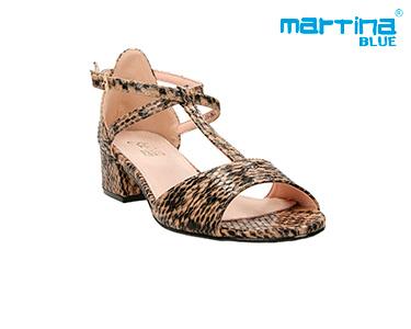 Sandálias Salto Médio Martina Blue® | Taupe