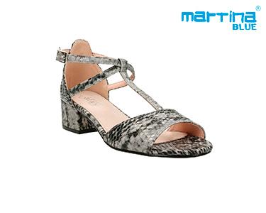Sandálias Salto Médio Martina Blue® | Preto