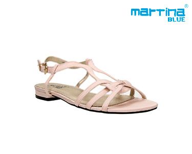Sandálias Rasas c/ Tiras Martina Blue® | Crú