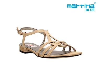 Sandálias Rasas c/ Tiras Martina Blue® | Taupe