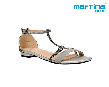 Sandálias Rasas c/ Tiras Martina Blue® | Cinzento
