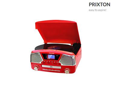 Leitor Gira-Discos Vinil Vintage Prixton® | Mp3, USB, Rádio, CD & SD