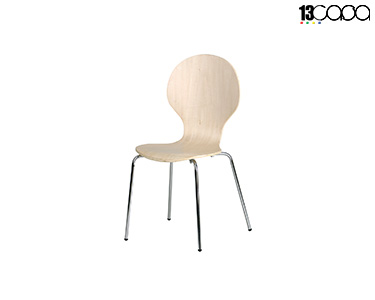 Conjunto de 4 Cadeiras Formici | Natural