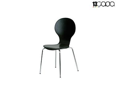 Conjunto de 4 Cadeiras Formici   Preto