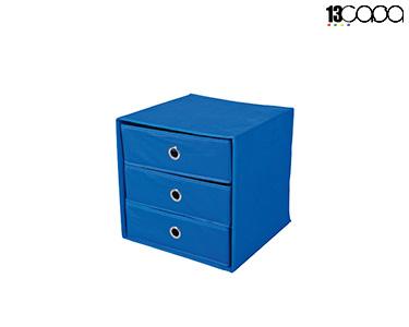 Caixa Desdobrável c/ Gavetas   Azul