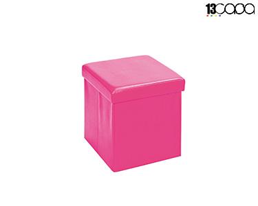 Puff c/ Armazenamento | Rosa