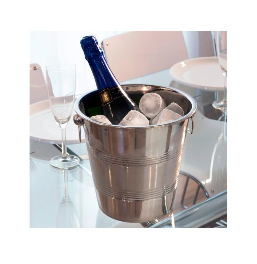 balde para gelo em inox vinhos e gourmet zori by odisseias. Black Bedroom Furniture Sets. Home Design Ideas