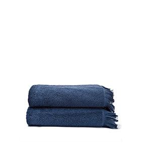 2 Toalhas Casa Di Bassi® em Algodão N70140X2 | Azul Marinho