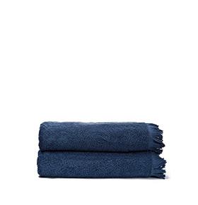 2 Toalhas Casa Di Bassi® em Algodão NS3X2 | Azul Marinho