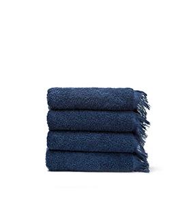 4 Toalhas Casa Di Bassi® em Algodão NS4X4 | Azul Marinho