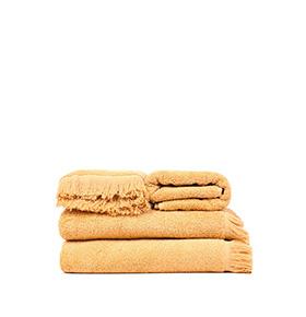 4 Toalhas Casa Di Bassi® em Algodão GL5090X2 | Dourado