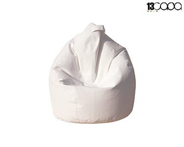 Puff Bean Bag Eco   Branco
