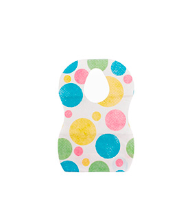 Conjunto de Babetes Descartáveis p/ Bebés   10 unidades