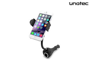 Suporte & Carregador de Carro DualMount Unotec® | 2xUSB