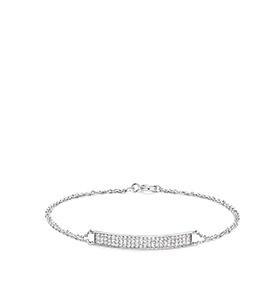 Pulseira Rhea® Silver | Rectângulo de Cristais