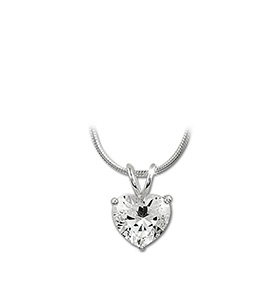 Colar Rhea® Silver | Coração de Cristal