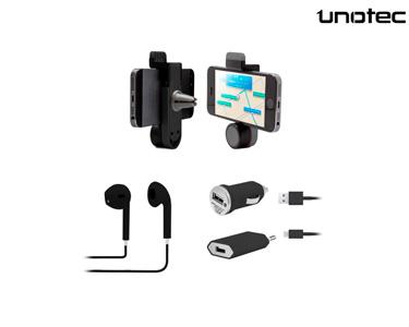 Pack Essencial para Smartphone Unotec® | Preto