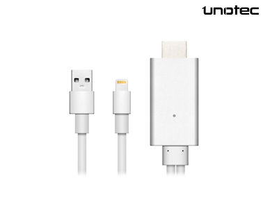 Adaptador HDMI para Iphone & Ipad Unotec® | Branco