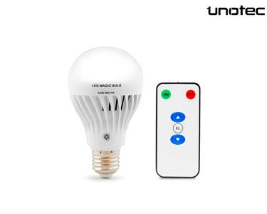 Lâmpada LED E27 + Comando | Unotec®