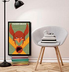 Quadro Hawkman CGFR4030-127   40x30cm