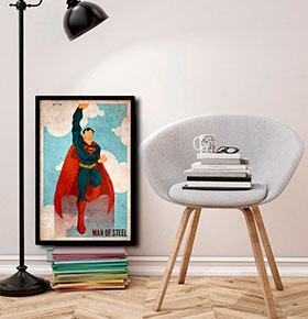 Quadro Superman CGFR4030-134   40x30cm
