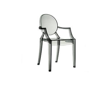Cadeira Valentina   Transparente Escuro