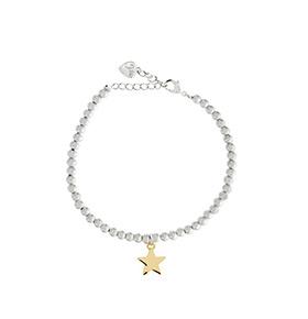 Pulseira 5Chic® Estrela | Prateado e Dourado