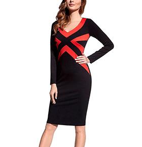 Vestido Ennywear® 43793   Preto e Vermelho