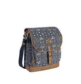 Bolsa Tiracolo 02.50 Camel® XL | Azul & Branco
