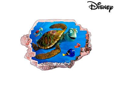 Vinil de Parede 3D Disney   Nemo e Crush