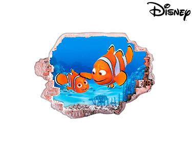 Vinil de Parede 3D Disney | Marlin e Nemo