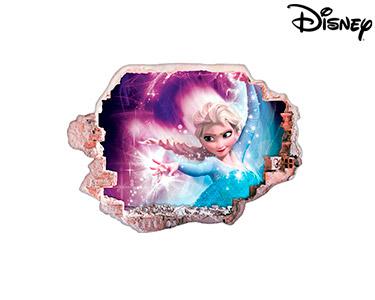 Vinil de Parede 3D Disney | Frozen Elsa