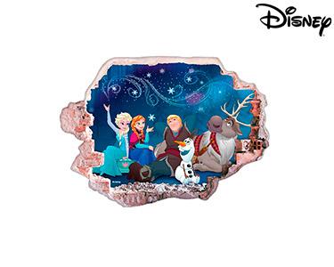 Vinil de Parede 3D Disney | Frozen Amigos