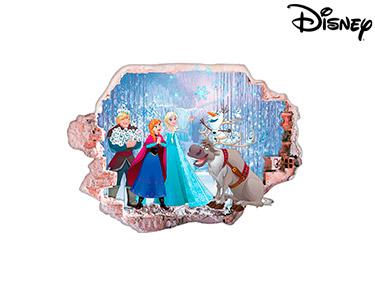 Vinil de Parede 3D Disney | Frozen, Felicidade!