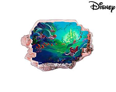 Vinil de Parede 3D Disney | Pequena Sereia