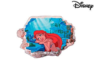 Vinil de Parede 3D Disney | Ariel