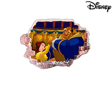 Vinil de Parede 3D Disney | A Bela e O Monstro