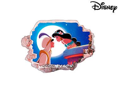 Vinil de Parede 3D Disney   Aladin